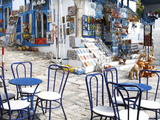 Cafe and Souvenir Shop, Sidi Bou Said, Tunisia, North Africa, Africa Fotografisk tryk af Dallas & John Heaton