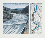 Over The Arkansas River XI, Project Impressão colecionável por  Christo