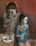 Mutter mit Kind (Gaukler), c.1905 Samletrykk av Pablo Picasso