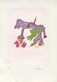 Fantasiewesen Drachen C, c.1974 Keräilyvedos tekijänä Otmar Alt