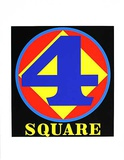 Polygon Square (from the American Dream Portfolio) Serigrafi (silketryk) af Robert Indiana