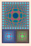 Ohne Titel XXX Reproductions de collection premium par Victor Vasarely
