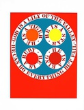 God is Lily of the Valley (from the American Dream Portfolio) Serigrafia por Robert Indiana