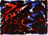 Katze und Affe Eksklusivudgaver af A. R. Penck