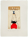 Hotel Kreta (Fauteuil Rouge) Limited edition van Raymond Waydelich