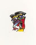 Perücken-Scheitel-Hokko, c.1996 Rajoitettu erä tekijänä Otmar Alt