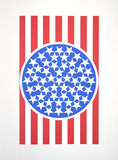 New Glory Banner 1 (from the American Dream Portfolio) Serigrafi (silketryk) af Robert Indiana