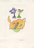 Fantasiewesen Schwebendes Pferd B, c.1974 Keräilyvedos tekijänä Otmar Alt