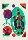 Serie II Ich (Gruen-Lila) Edição limitada por A. R. Penck