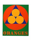 No. 3 Oranges (from the American Dream Portfolio) Serigrafi (silketryk) af Robert Indiana