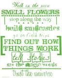 Walk In The Rain (Green) Serigrafi (silketryk) af Kyle & Courtney Harmon
