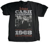 Johnny Cash - Arrival (premium) T-Shirt by Jim Marshall