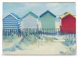 Suffolk Beach Huts Holzschild