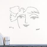 Le Visage de la paix, 1950 Muursticker van Pablo Picasso
