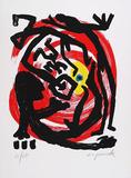 Dresden, c.1992 Blatt 3 Særudgave af A. R. Penck