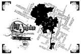 Los Angeles Pop Culture Map Serigrafi (silketryk) af Kyle & Courtney Harmon