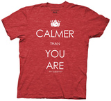 The Big Lebowski - Calmer Than You Are (Slim Fit) T-skjorter