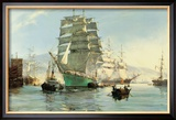 The Thermopylae Leaving Foochow Framed Giclee Print by Montague Dawson