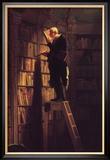 The Bookworm Framed Giclee Print by Carl Spitzweg