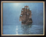 Crescent Moon Framed Giclee Print by Montague Dawson