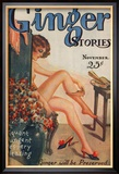 Ginger Stories, Erotica Pulp Fiction Magazine, USA, 1927 Poster