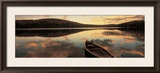 Water and Boat, Maine, New Hampshire Border, USA Framed Photographic Print