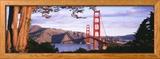 Golden Gaten silta, San Francisco, Kalifornia, USA Kehystetty valokuvavedos