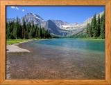 Lake Josephine met Grinnell gletsjer in Glacier National Park, Montana Ingelijste fotodruk van Jamie & Judy Wild