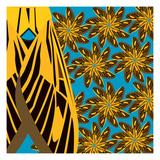 Yellow Pinwheels Made of Moths Giclee Print by Belen Mena