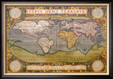 World Map Prints by Abraham Ortelius