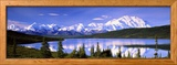 Snow Covered Mountains, Mountain Range, Wonder Lake, Denali National Park, Alaska, USA Framed Photographic Print by  Panoramic Images