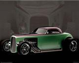 Ford Roadster Classic 1932, pôster da impressão artística  Pôsters