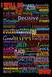 I Will Be (Motivational List) Art Poster Print Billeder