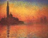 San Giorgio Maggiore i skymningen, ca 1908|San Giorgio Maggiore by Twilight, c.1908 Konst av Claude Monet