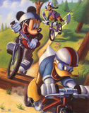 Mickey Mouse and Friends Biking Affiche
