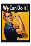 Rosie the Riveter We Can Do It Plakat av J. Howard Miller