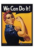 Rosie the Riveter We Can Do It Poster di Miller, J. Howard