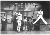 The Who Live on Stage Music Poster Print Stampe