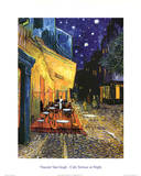 Vincent Van Gogh Cafe Terrace At Night Art Print Poster Pósters