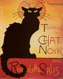 Theophile Steinlen Tournee du Chat Noir Avec Rodolphe Salis Art Print Poster Kunstdrucke