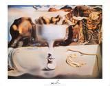 Fruit Dish Poster von Salvador Dalí
