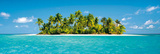 Maldives Island (Tropical Beach) Art Poster Print Kunstdruck