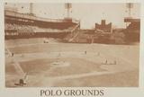 New York Polo Grounds Vintage B&W Photo Sports Poster Print Foto
