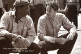The Shawshank Redemption Movie (Tim Robbins and Morgan Freeman, B&W) Poster Print Kunstdrucke