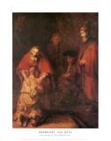 Tuhlaajapoika Julisteet tekijänä  Rembrandt van Rijn