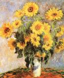 Les tournesols, vers 1881 Affiches par Claude Monet