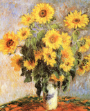 Zonnebloemen Posters van Claude Monet