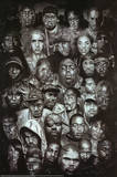 Rap Gods (Rapper Collage) Music Poster Print Plakat