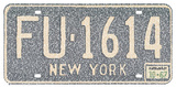 New York License Plate Cities Text Art Print Poster Poster