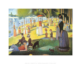 A Sunday on La Grande Jatte 1884, 1884-86 Julisteet tekijänä Georges Seurat